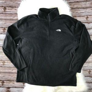 North Face Black Men's Fleece Pull Over Sweater